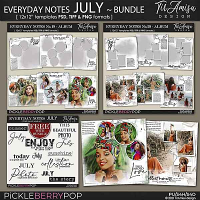 Everyday Notes July Bundle ~ Templates