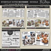 Everyday Notes Templates ~ November Bundle by TirAmisu design