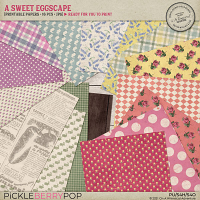 A Sweet Eggscape Printable Papers