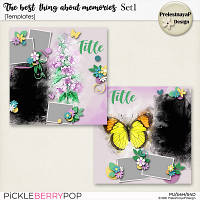 The best thing about memories Templates Set1