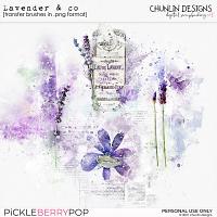 Lavender & co - transfer brushes in .png format