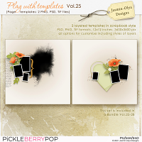 Play With Templates Vol.25 (Jasmin-Olya Designs)