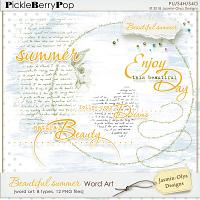 Beautiful summer - Word Art (Jasmin-Olya Designs)