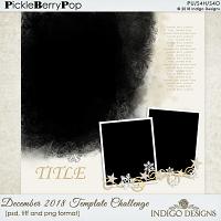 December 2018 Mojo Template Challenge by Indigo Design