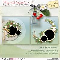 Play With Templates Vol.20 (Jasmin-Olya Designs)