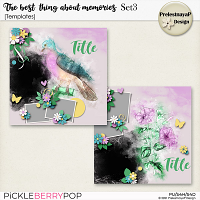 The best thing about memories Templates Set3