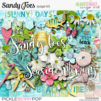 Sandy Toes Page Kit