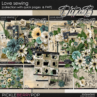 Love sewing - collection with quick pages & FWP