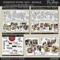 Everyday Notes May Bundle ~ Templates
