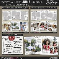 Everyday Notes June Bundle ~ Templates