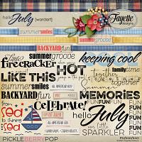 Hello July: WordArt