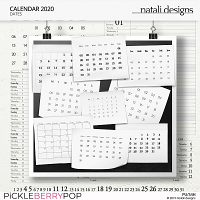 2020 Calendar Dates
