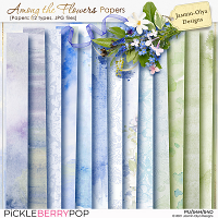 Among the flowers - Papers (Jasmin-Olya Designs)