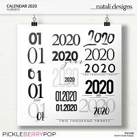 2020 Calendar Numbers
