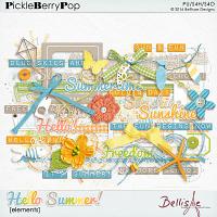 HELLO SUMMER | elements by Bellisae Designs