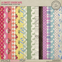 A Sweet Eggscape Patterned Papers