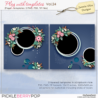 Play With Templates Vol.24 (Jasmin-Olya Designs)