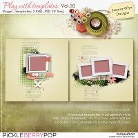 Play With Templates Vol.10 (Jasmin-Olya Designs)