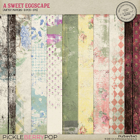 A Sweet Eggscape Artsy Papers