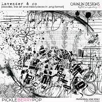 Lavender & co - doodles, line art & inked pieces in .png format