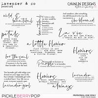 Lavender & co  - word art