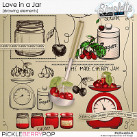 Love in a Jar (drawing elements) by Simplette