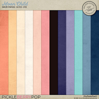 Moon Child Solid Papers