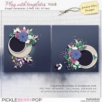 Play With Templates Vol.8 (Jasmin-Olya Designs)