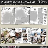 Everyday Notes No.3 ~Templates by TirAmisu design